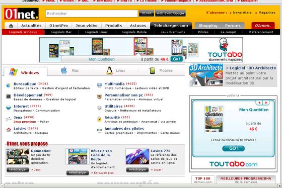 Telecharger.com Le site