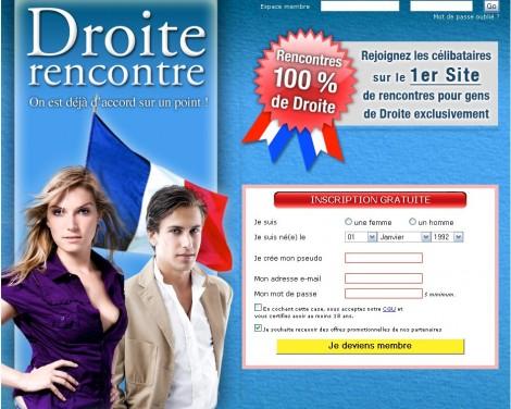 Page d'accueil du site Droite-rencontre.com
