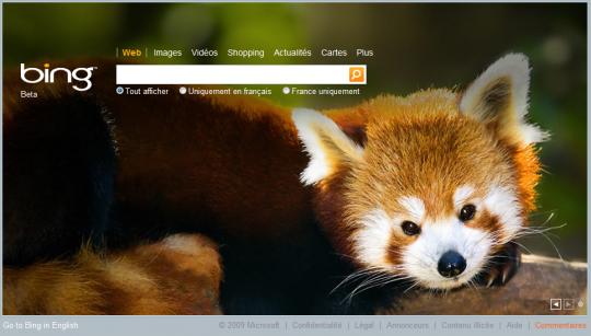 Firefox sur Bing