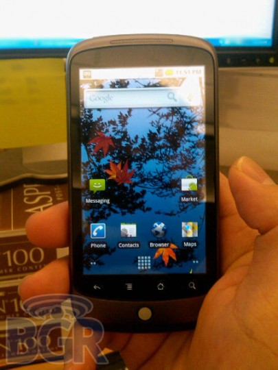 Nexus One de face