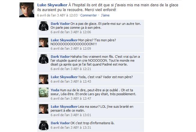 Facebook et Dark Vador