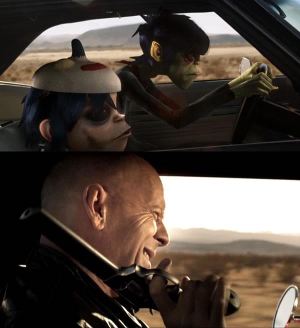 Bruce Willis dans Gorillaz