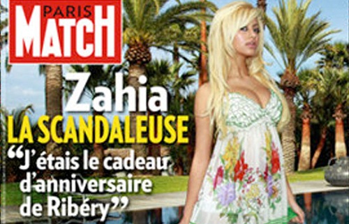 Zahia D Paris Match