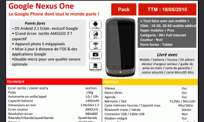 Nexus One chez SFR