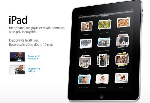 iPad le 28 mai