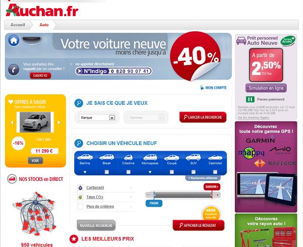 Capture d'écran Auchan
