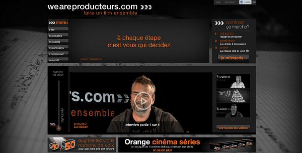 Capture d'écran Weareproducteurs