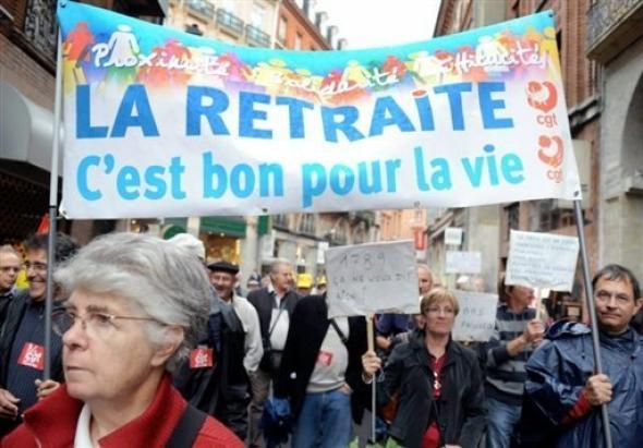 Manifestation retraite