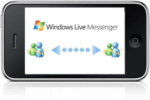 Windows Live Messenger sur iPhone