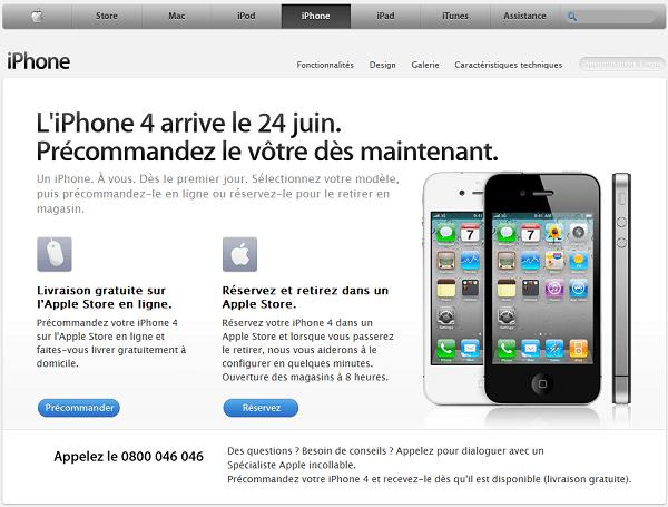 iPhone 4 en pré commande