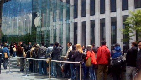iPhone 4 fil d'attente
