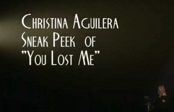 Christian Aguilera You Lost Me