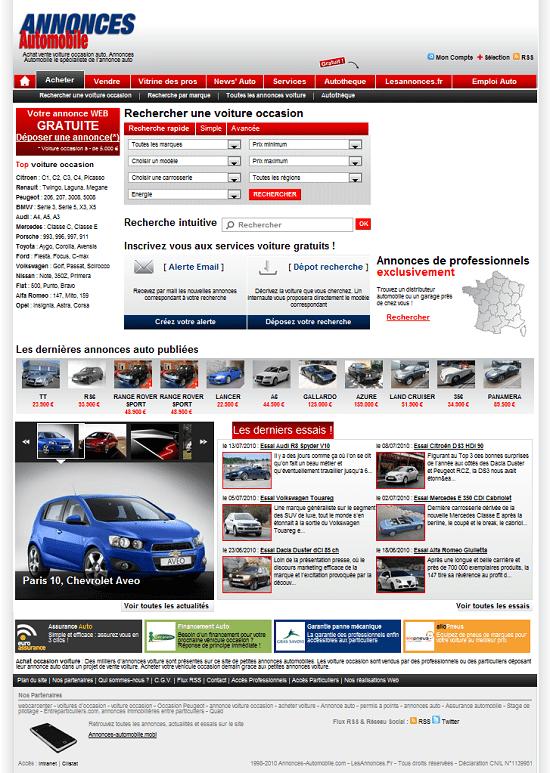 Capture d'écran Annonces automobiles