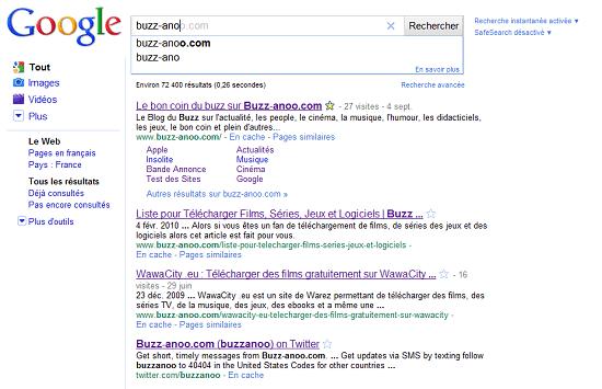 Google Instant Buzz anoo