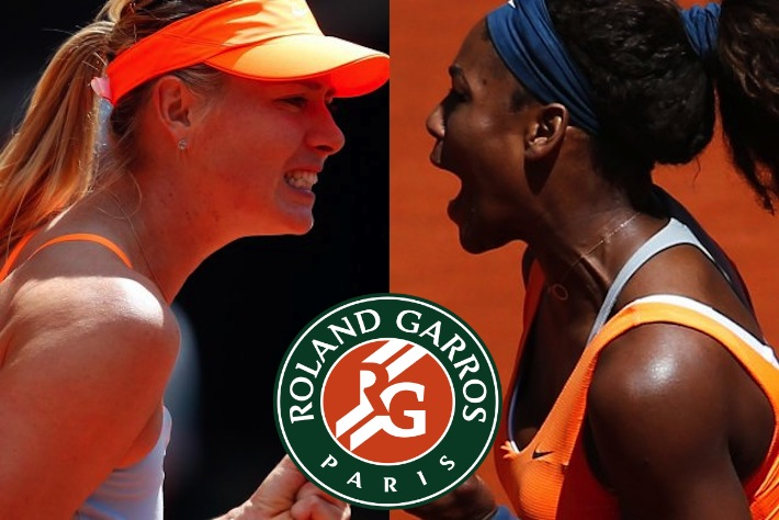 roland garros maria sharapova contre serena williams la finale. Black Bedroom Furniture Sets. Home Design Ideas